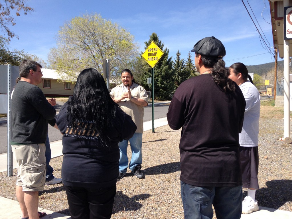 Danny Leads a WAYK Walk at Susanville Rancheria