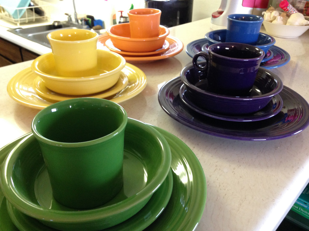 Color-Coordinated Dishes