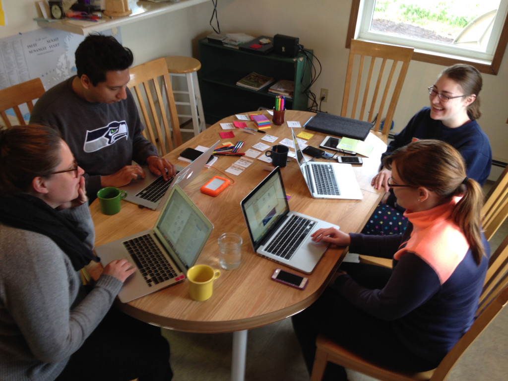 Intern with WAYK! 2015 Interns Hard at Work at the WAYK House.