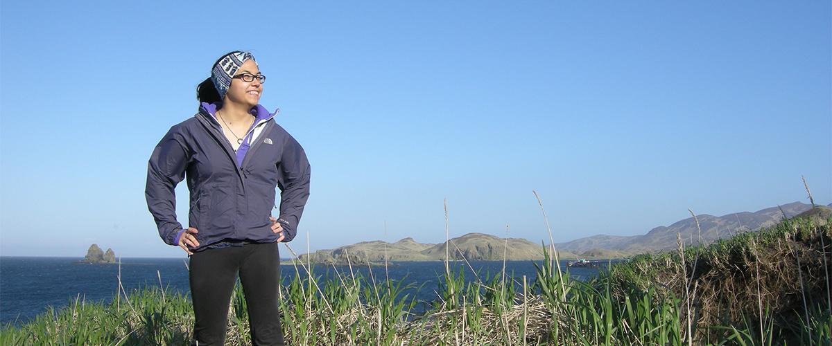 Bobbi Dushkin at Nazan Bay in Atka, Alaska Featured