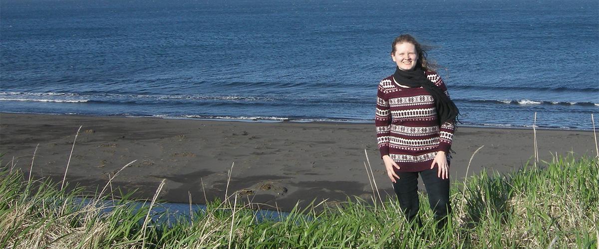 Erin McGarvey at Nazan Bay in Atka, AK