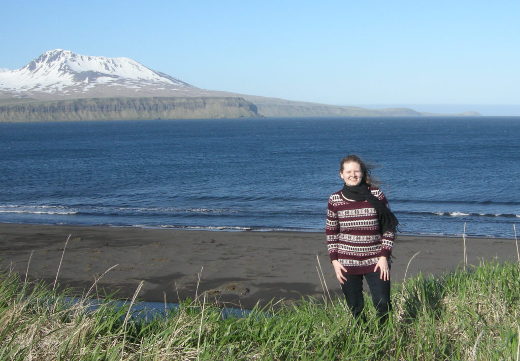 Erin McGarvey at Nazan Bay in Atka, AK