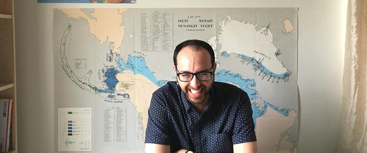Samuel Catanach at the WAYK House in Atka, Alaska Featured