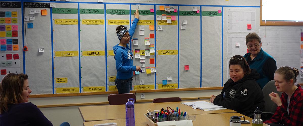 Bobbi Dushkin Leading a WAYK Scheduling Meeting Featured