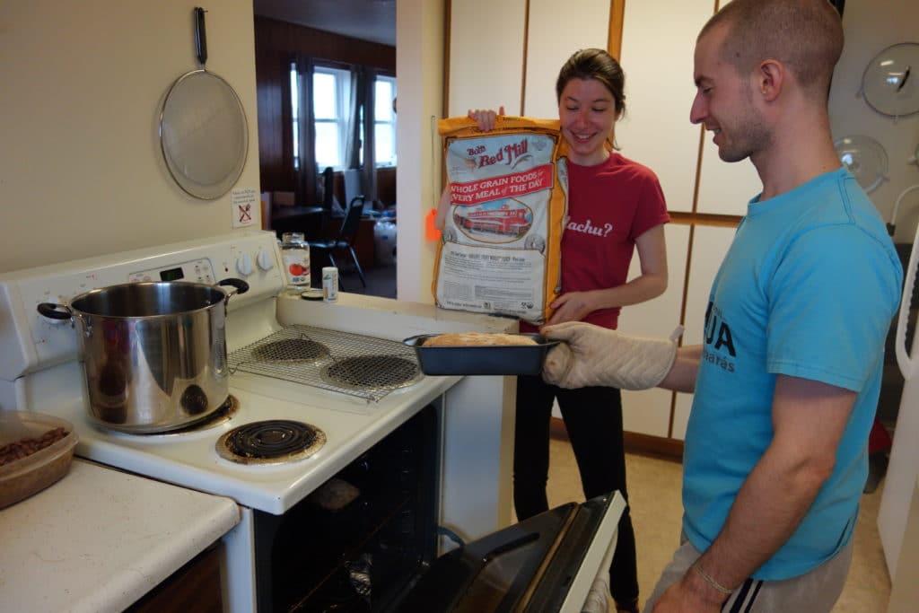 Robbie Making Bread In Quechua