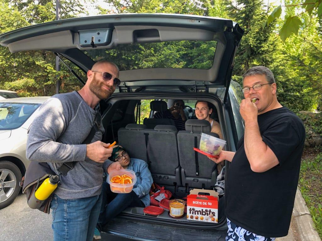 Interns on an Excursion