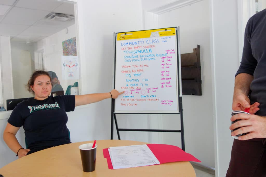 Meghan Reviews the Community Class Agenda