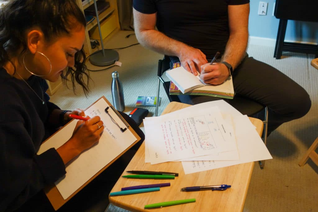 Salia and Josh Scribing Lessons